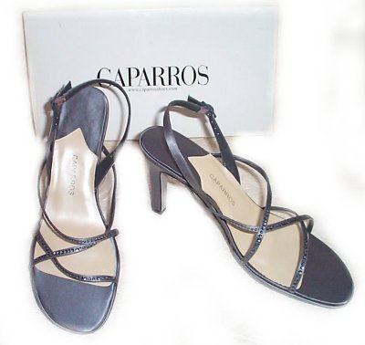 CAPARROS Designer Latte Silk KORKY Dress Shoes - Size 9.5
