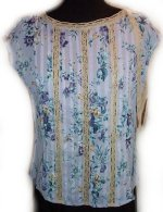 LIZ CLAIBORNE AXCESS Floral Lace Sleeveless Top Blouse - M