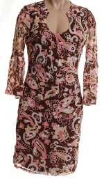 INC International Concepts Poetic Rose Gypsy Knit Dress - M